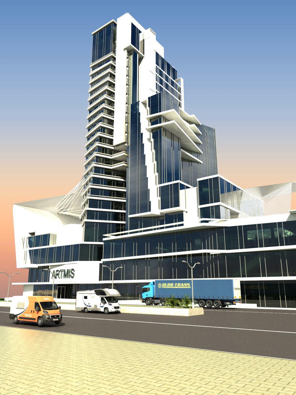 پروژه آرتمیس نمای برج t5