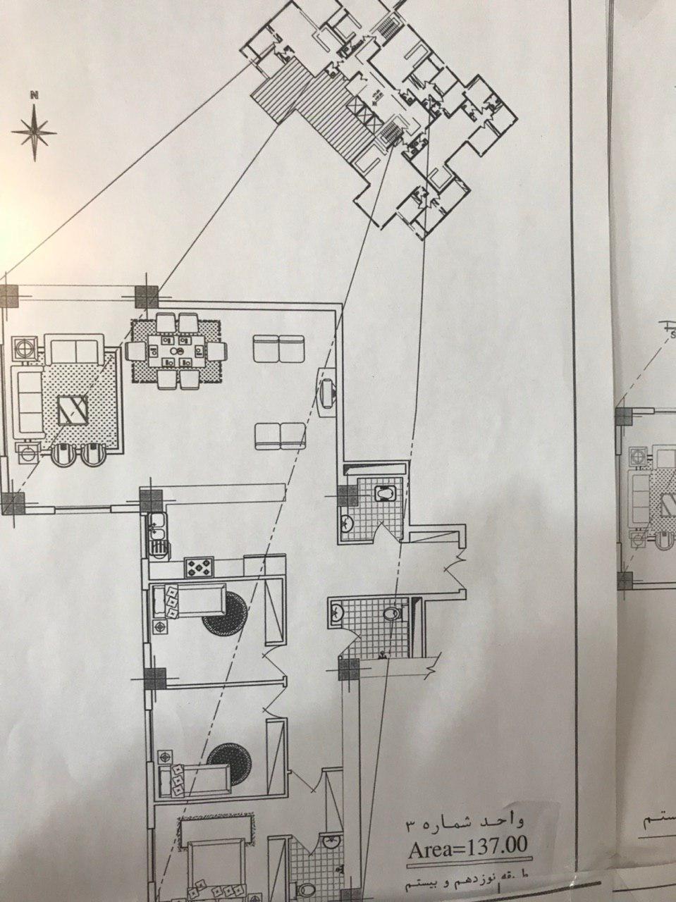 پلن طبقات پروژه بازنشتگان ارتش پلن شماره (3)