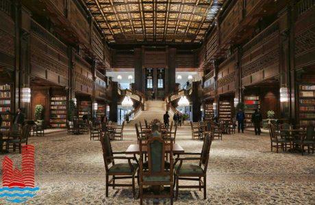 کتابخانه ایران مال | باغ کتاب ایران مال (لاکچری ترین کتابخانه)